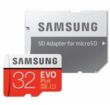 SAMSUNG EVO Plus 32GB MicroSDHC Memory Card with Adapter